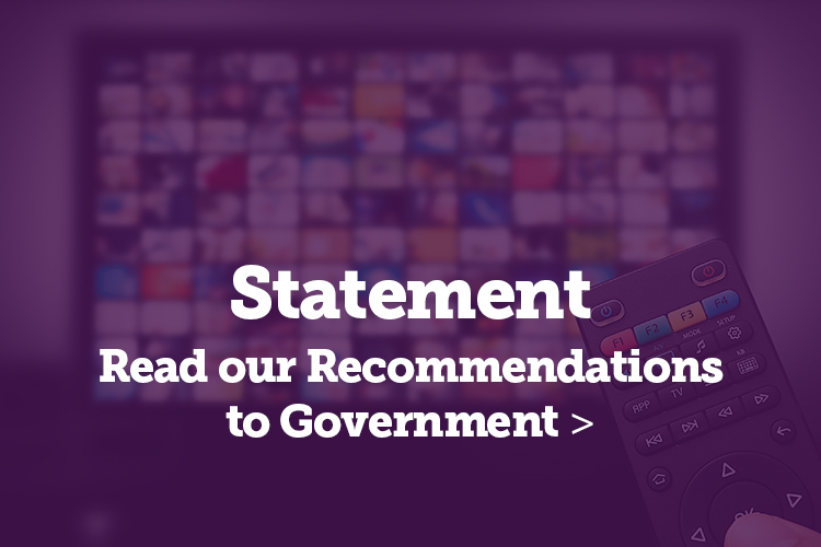 Read our full consultation on the future of public service broadcasting and media